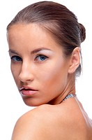 portrait of beautiful model