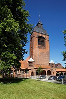 D-Kiel, Kiel Fjord, Baltic Sea, Schleswig-Holstein, D-Kiel-Wik, Petrus Church, evangelic church, garrison church, brick building, art nouveau