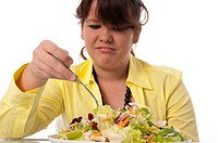 Girl eats Salad