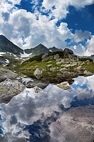 The Long Pond in Gasienicowa Valley, Tatra National Park, Poland, Europe