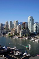 Canada, British Columbia, Vancouver, False Creek, skyline.