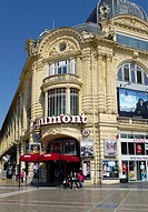 The renovated Gaumont movie theater in the heart of Montpellier's urban redevelopment zone, la Place Comedie