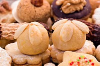 Christmas cookie collection as closeup