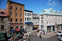 Canada, Quebec, Québec City, rue St-Jean street scene