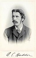 Alfred Cort Haddon 1855_1940, British zoologist and anthropologist. Haddon published a number of papers on marine biology, including reports on Polypl...
