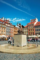 Warsaw, Mermaid Statue at the Old Town Square, Poland, Europe