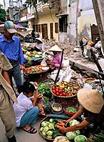 Hanoi is the the capital of Vietnam and its largest city. It has busy street markets where food can be bought.
