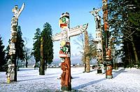 Totem poles are sculptures carved from trees by a number of Indigenous cultures along the Pacific northwest coast of North America. The meanings of th...