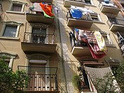 Streets, Barceloneta neighbourhood, Barcelona, Catalonia, Spain