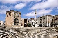 Lecce is a historic town on the Salentine peninsula. There are fine monuments from the Roman and later eras,in the Anfiteatro Romano or amphitheatre,t...