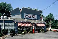 Town. Seafood restaurant. Clam Box.