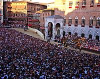 The Palio di Siena is a horse race held on the 2nd July and 16th August every year around the Piazza del Campo,It is a thrilling spectacle for huge cr...