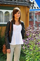 young Norwegian woman, Tromso, County of Troms, Norway, Northern Europe