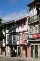 Portugal, Minho, Guimaraes, street scene