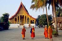 Laos Luang Prabang Wat Manolom.