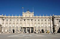 Plaza de Armas _ inner courtyard _ of the Palacio Real Royal Palace,also known as Palacio de Oriente The East Palace constructed between 1738_1755 to ...