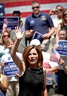 US Republican Presidential candidate Michelle Bachmann campaigns on August 18, 2011 in Columbia, South Carolina