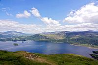 The Lake District is a a popular holiday destination,famous for its lakes and its mountains or fells .