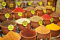 The Misir Carsisi Spice Bazaar is a huge covered market in Eminonu where edible spices in powder and dried form are heaped up and are a feast for the ...