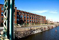 Canada, Quebec, Montreal, Lachine canal, Peel, houses