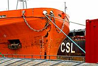Canada, Quebec, Montreal, docked ship (thumbnail)
