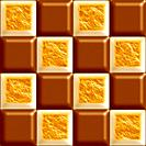 Milk chocolate and toasted marshmallow seamless tiling background texture pattern