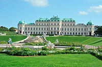 High Belvedere Palace façade's view from the gardens  The artistic collection consists of the two Belvedere Palaces High and Low  The two main palaces...