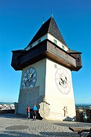 Uhrturm Clock's Tower Schlossberg  Graz  Estiria  Austria  It measures 28 metres high and is Graz's symblo  The first mention of the tower is found in...