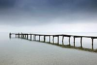 Old dock on lack chiem, Bavaria, Germany