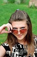 nice girl in sunglasses
