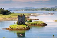 Castle of Stalker near Appin village - An Apainn -, Highlands, Scotland