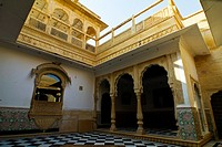 Inner part of the Golden Fort Complex, Jaisalmer, Rajasthan, India