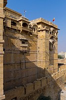 Outer walls of the Golden Fort Complex, Jaisalmer, Rajasthan, India