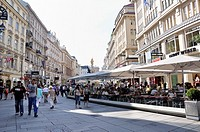 Shopping mile, retail strip, Graben Street, Vienna, Austria, Europe, June 2011