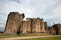Alnwick Castle used as a stand_in for Harry Potter´s Hogwarts, Alnwick, England