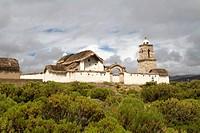 Bolivia, Tomarapi, old church.