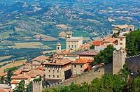 San Marino  Palazzo Pubblico  Monte Titano  Republic of San Marino  Italy  Europe.
