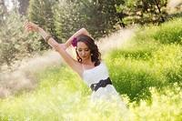 A beautiful young caucasian woman outdoors in Spokane, Washington, USA