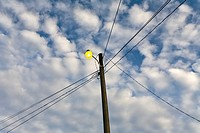 Street lamp during the day