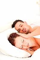 Woman not able to sleep because of snoring in the bedroom