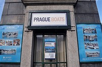 Boat tickets office in Prague, Czech Republic