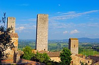 San Gimignano, Tuscany, Italy, Siena Province, UNESCO World Heritage Site, Europe.