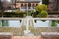 the gardens in the alhambra, granada andalucia spain