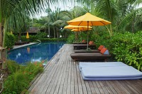private villa and swimming pool on Ko Phi Phi Island, Thailand