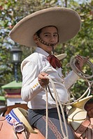 Mexican boy in a Charros Parade, Puerto Vallarta, Jalisco, Mexico