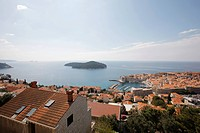 Adriatic Sea, Lokrum Island, Old_Port, Old_Town, Old_Town of Dubrovnik, Dubrovnik, Dalmatia, Croatia, Eastern Europe, Europe, UNESCO, World Heritage