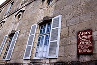 Factory of the famous french sweet 'Anis de Flavigny' made from anise at the abbaye of Flavigny sur Ozerain, Cote d'Or 21, in Burgundy  Main building ...