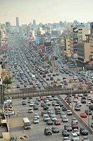 BEIRUT LEBANON Traffic and smog