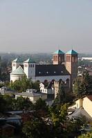 1830 von Georg Moller erbaut, Wiederaufbau 1949_1953, Blick vom Kirchberg, Vormittags