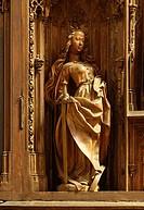 Schnitzaltar, Heilige Katharina